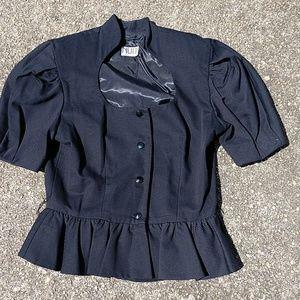 Nuit Tops - Vintage peplum jacket